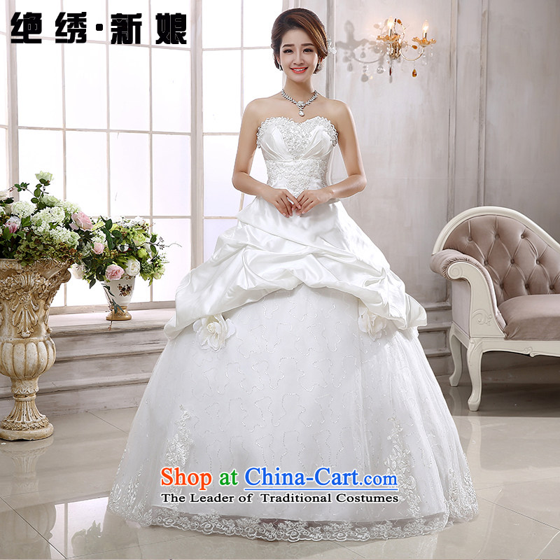 Embroidered Bride Korean is wiping the chest sweet Princess Korean style wedding to align the wedding white made does not allow