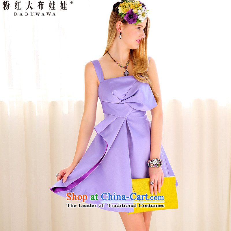 New evening dresses pink large doll purple of UNITA bow ties small dress skirts dress S39YB PURPLE�M