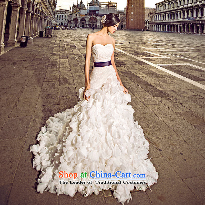 Full Chamber Fang 2015 Venice new wedding dresses s21432 anointed chest crowsfoot tail bride white wedding tail 173-XL 100cm