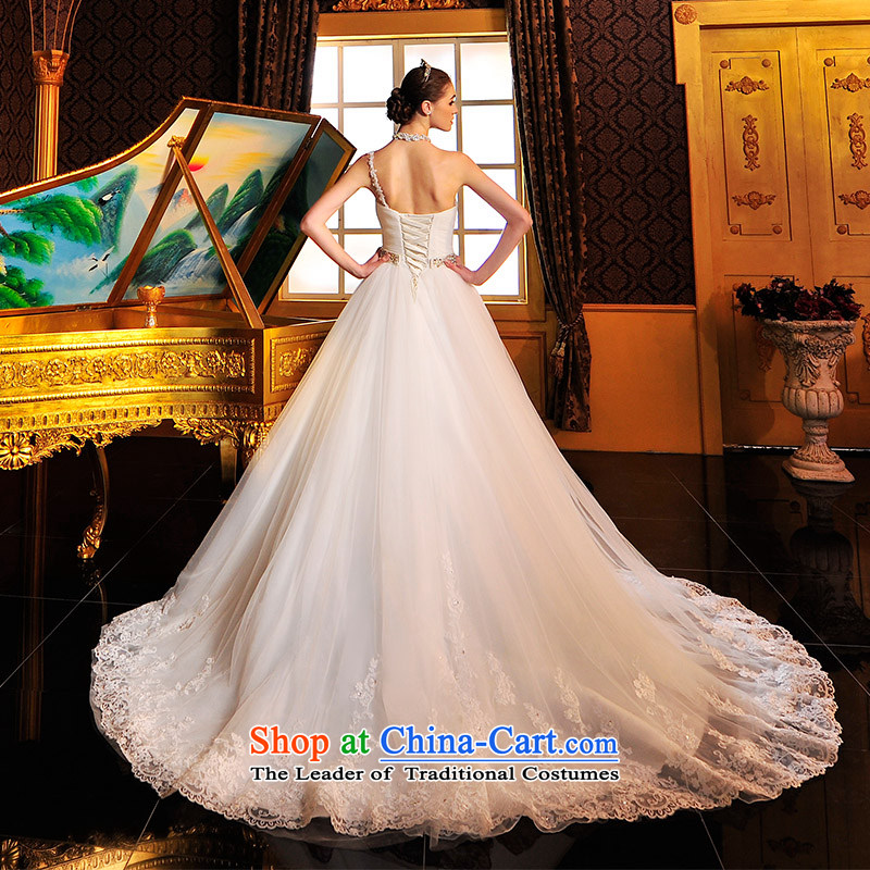 Full Chamber S12691 Fong straps Korean anointed chest theme wedding dresses?2015 new vera wang tai tail tail 165-XL 50cm
