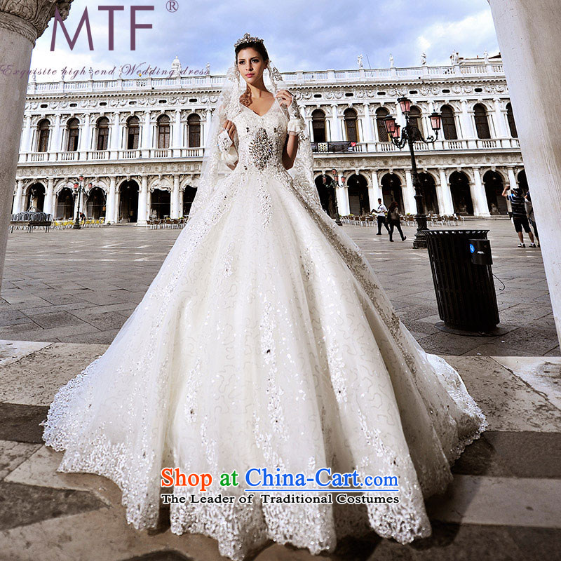 Full Chamber Fang 2015 Venice new wedding dresses s21442 diamond shoulder strap and chest luxury tail bon bon tail 165-M 150cm