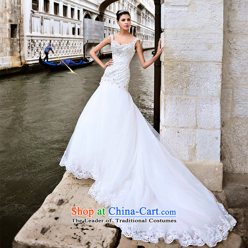 Full Chamber Fang 2015 Venice new wedding dresses s21431 shoulder strap tail crowsfoot diamond bride wedding?tail?165-S 80 cm