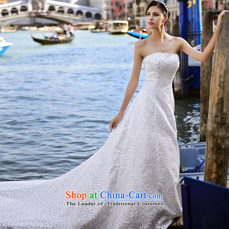 2015 new full Chamber Fong MTF Venice real concept and chest tail sweet sexy bride wedding dresses S21449 tail tailored 60cm
