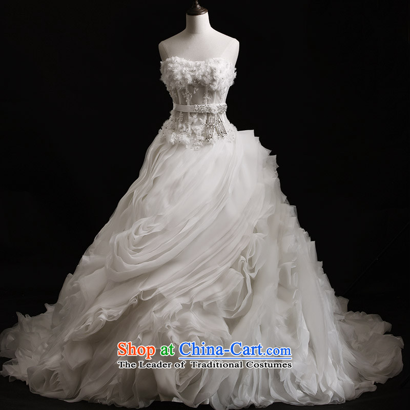 Full Chamber Fang 2015 new bride wedding dresses S21436 anointed chest tail bon bon diamond custom bride wedding聽tail聽173-S 80 cm