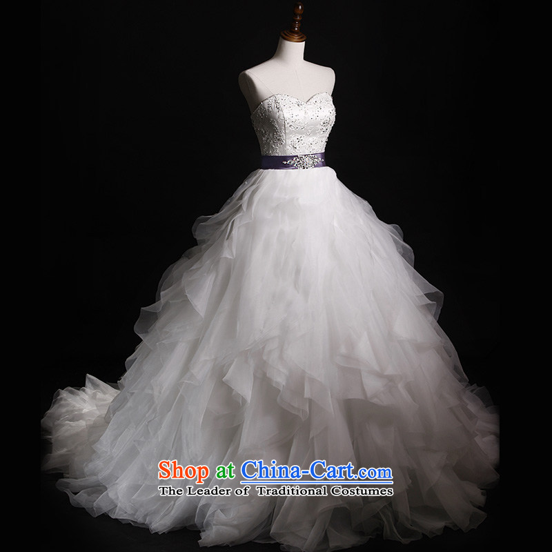 Full Chamber Fang 2015 new wedding dresses and chest tail s660 bon bon bride wedding white winter, lace tail tailored 100cm