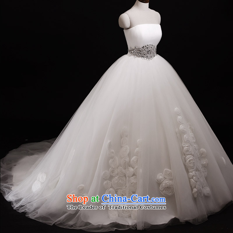 Full Chamber Fang 2015 new bride wedding dresses S21438 anointed chest bon bon manually, the floral decorations of the long tail 173-L 100cm