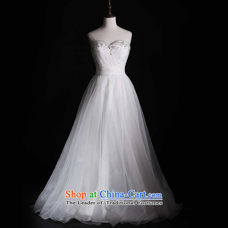 Full Chamber Fang 2015 new bride white wedding dresses S1305 anointed A Swing Simple conventions chest system lace white to align the wedding of�165-M