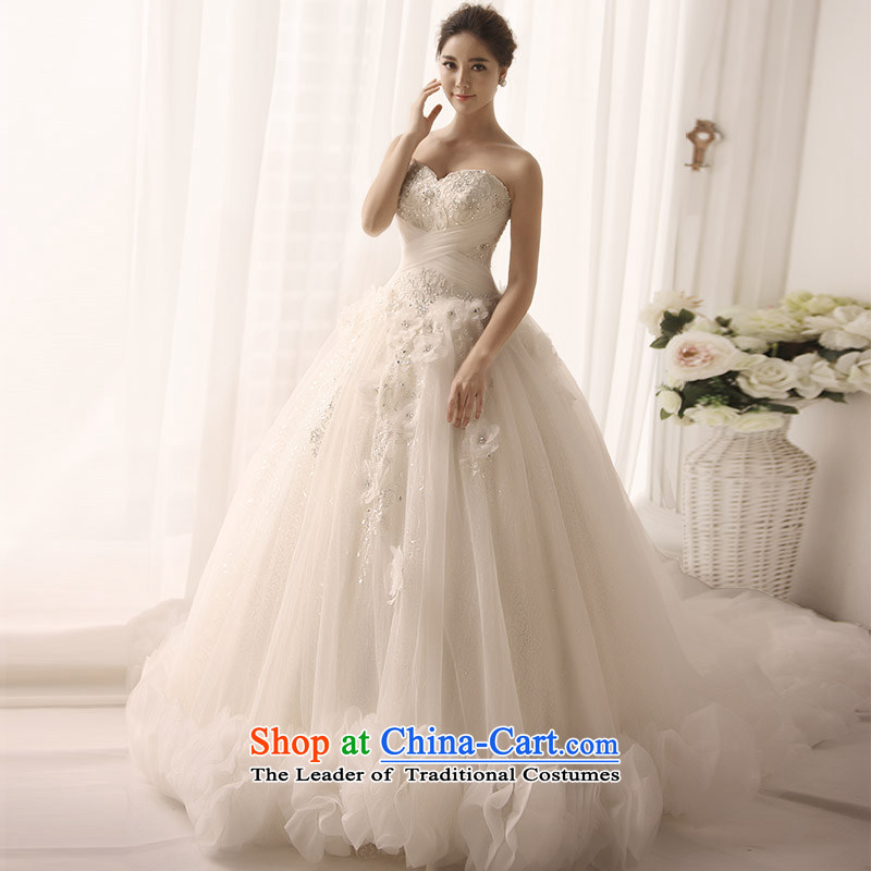 Full Chamber Fang 2015 new wedding dress wiping the chest of a cardioid chest clouds decorated Wedding Flower Handmade bride S1381 tail 173-L 60cm