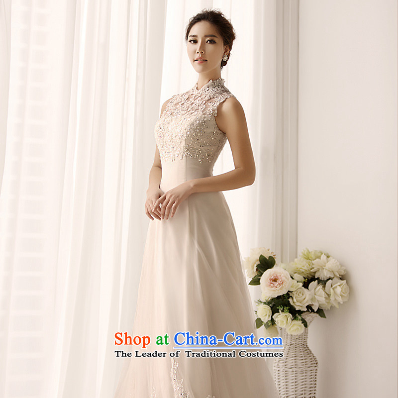 Full Chamber Fang 2015 new retro package shoulder wedding dresses S1399 wiping the chest A swing lace tail bride wedding ivory tail 50cm 173-S, full Chamber Fong shopping on the Internet has been pressed.