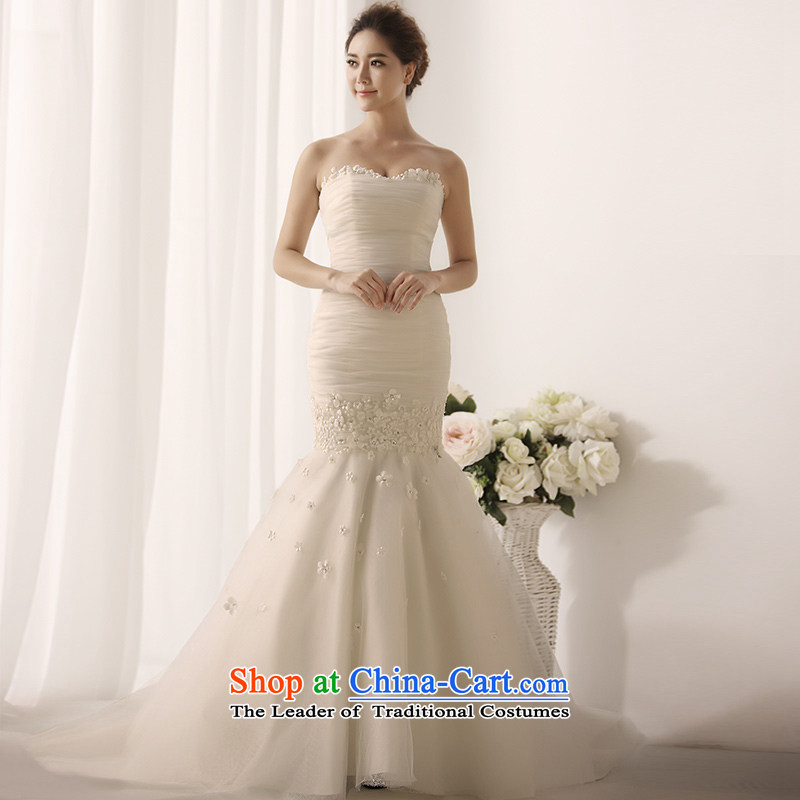 Full Chamber Fang 2015 new crowsfoot wedding dresses and chest with a bon bon tail princess sweet wedding S1392 tail 173-S 50cm