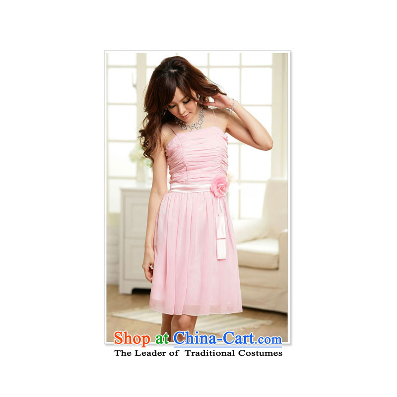 Sweet Dreams mini ceramic double gauze strap dress pink dresses are code