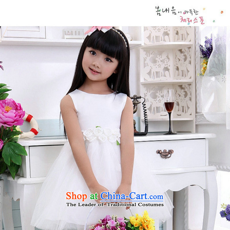 Optimize the new Children Hong-wedding dresses princess skirt Flower Girls dress bon bon apron skirt XS8046 white�10 Code