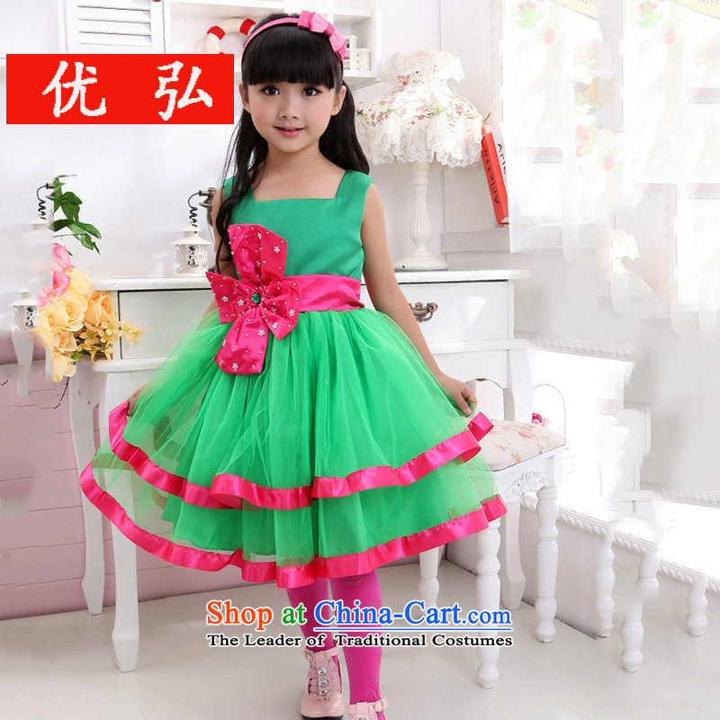 Optimize the performance of the new Children Hong-service bon bon Flower Girls dress dresses XS8044 Green 6