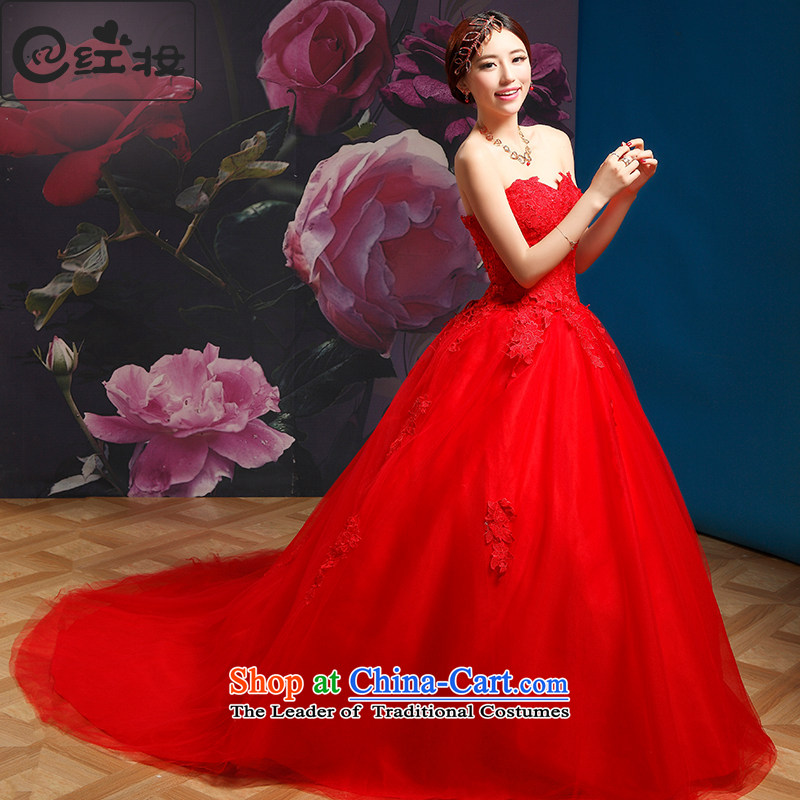 Recalling that hates makeup and summer wedding dresses red 2015 new tail marriages to align graphics thin H13867 Sau San Red Tail聽S