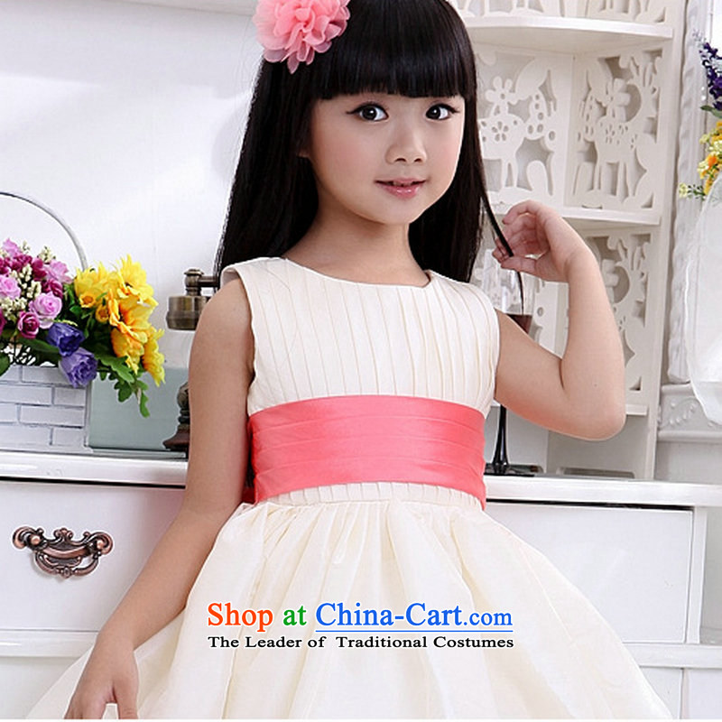 Optimize the performance of the new Children Hong-service girls wedding dress wedding dress XS8054 light champagne color?8