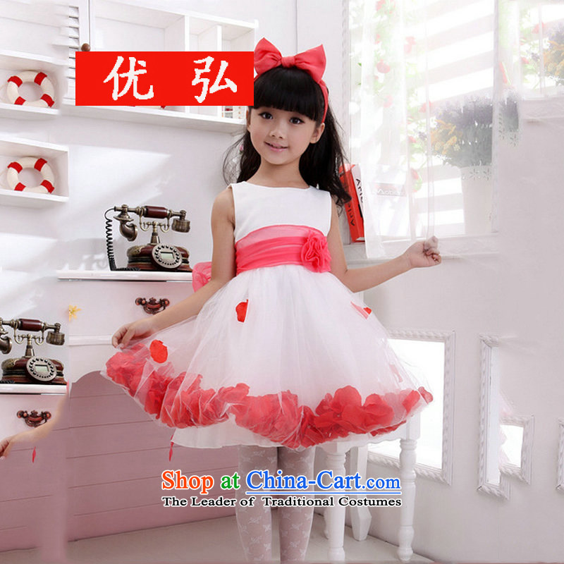 Optimize video New Princess skirt Birthday Concert dress XS8039 children serving white�10 Code