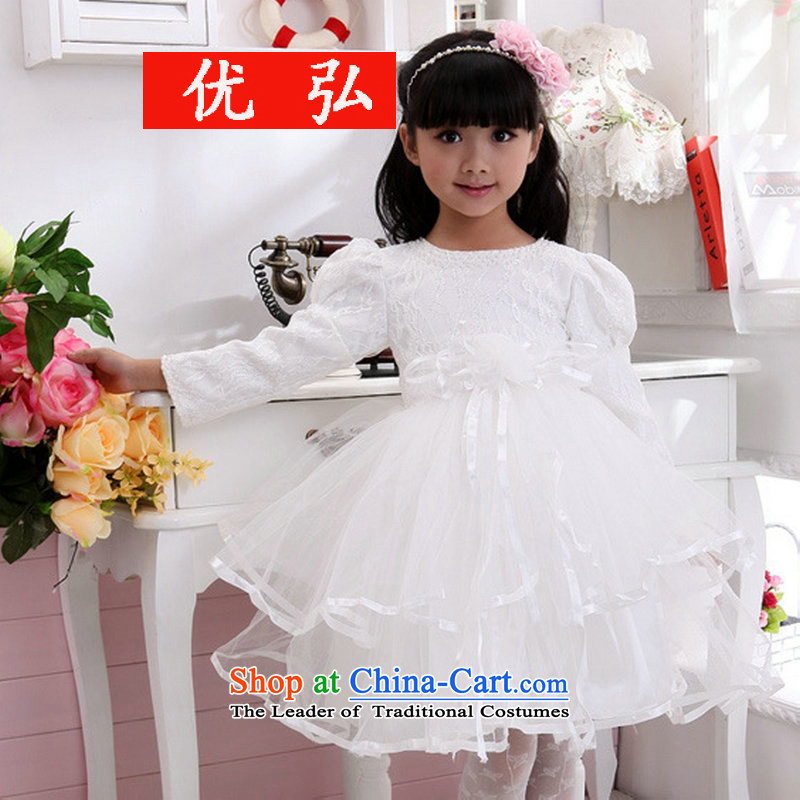 Optimize video new Flower Girls bon bon skirt children performances dress birthday princess skirt XS8041 white�10 Code