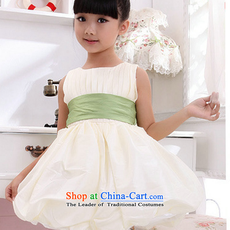 Optimize video children wedding dresses will bon bon Flower Girls dresses XS8049 light champagne color�4