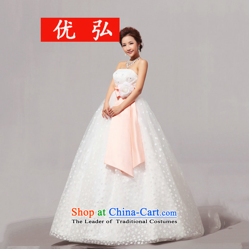 Optimize video new Korean Top Loin align ribbons pregnant women with chest wedding XS8050 white?L