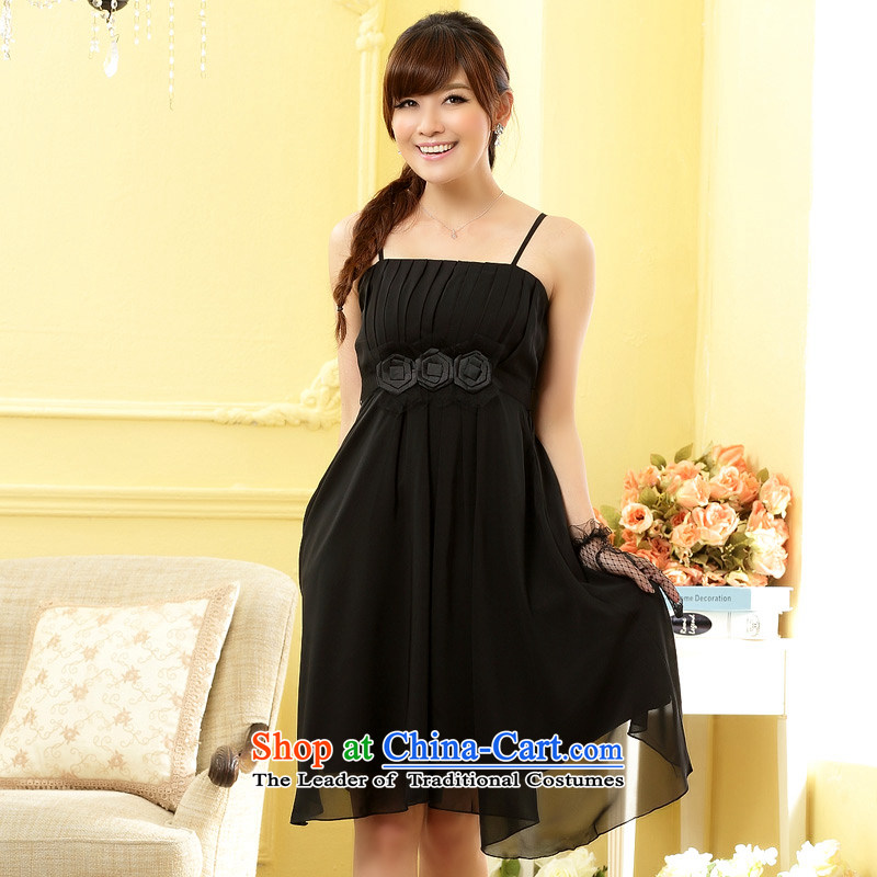 The end of the light _MO_ Fashion and sisters QIAN fine kidney strap dress skirt dresses Black?XL