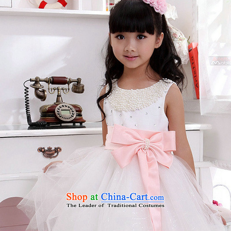 Optimize video children dress girls princess skirt Flower Girls dress skirt Chun Children will lace bridal dresses long XS3001 pink Bow Tie?2 code