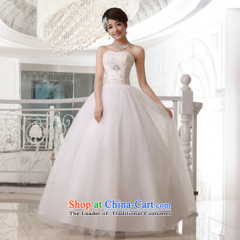 Taiwan's 2014 Korean style wedding dresses bride anointed chest straps flash XS19177 wedding package�White XXL�S