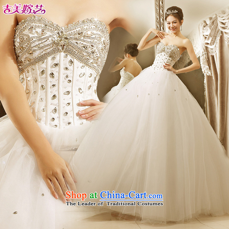 Wedding dress Kyrgyz-american married new anointed arts 2015 Chest Korean skirt to align bon bon HS601 bride wedding White聽XL