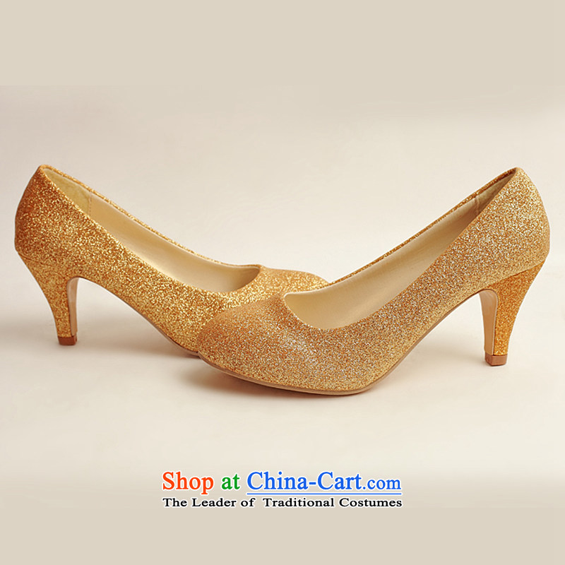 Doi m qi marriage shoes wedding dress shoes shoes bride shoes marriage the the high-heel shoes banquet shoes gold shoe stage performances shoes gold38, Demi Moor Qi , , , shopping on the Internet