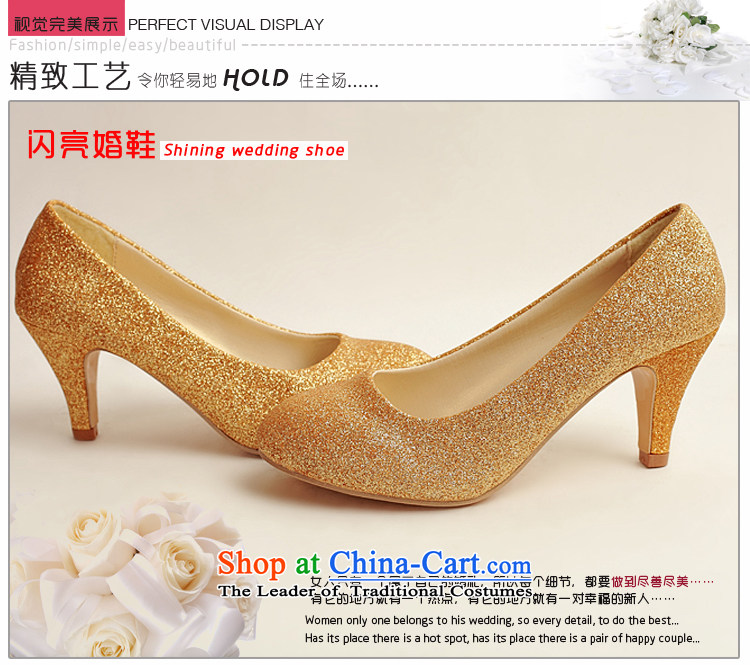 Doi m qi marriage shoes wedding dress shoes shoes bride shoes marriage the the high-heel shoes banquet shoes gold shoe stage performances shoes gold 38 pictures, prices, brand platters! The elections are supplied in the national character of distribution, so action, buy now enjoy more preferential! As soon as possible.