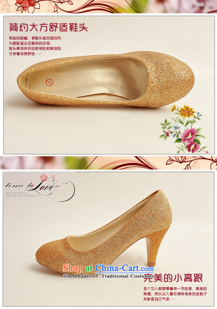 Doi m qi marriage shoes wedding dress shoes shoes bride shoes marriage the the high-heel shoes banquet shoes gold shoe stage performances shoes gold38 pictures, prices, brand platters! The elections are supplied in the national character of distribution, so action, buy now enjoy more preferential! As soon as possible.