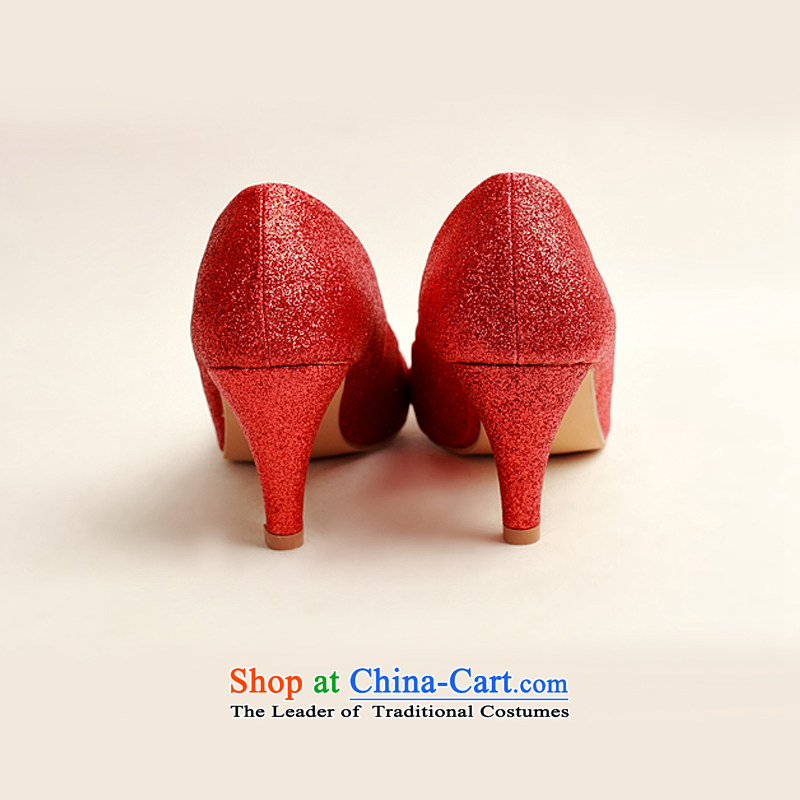 Doi m qi marriage shoes wedding dress shoes shoes bride shoes marriage the the high-heel shoes banquet shoes red shoes stage performances shoes DXZ1008 red 37, Demi Moor Qi , , , shopping on the Internet