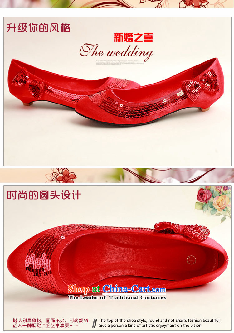 Doi m qi marriages red flash chip side sweet bow tie red shoes, low root marriage, simple, elegant engraving wild DXZ1009 red 35 pictures, prices, brand platters! The elections are supplied in the national character of distribution, so action, buy now enjoy more preferential! As soon as possible.