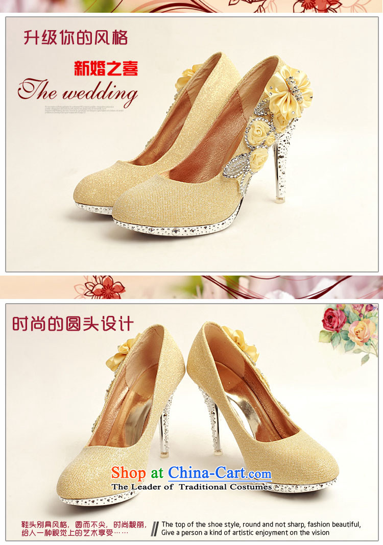 Doi m qi 2014 womens single shoe on the new chip ultra noble water drilling marriage shoes bride shoes gold legrix round head high heels DXZ10014 Golden 38 pictures, prices, brand platters! The elections are supplied in the national character of distribution, so action, buy now enjoy more preferential! As soon as possible.