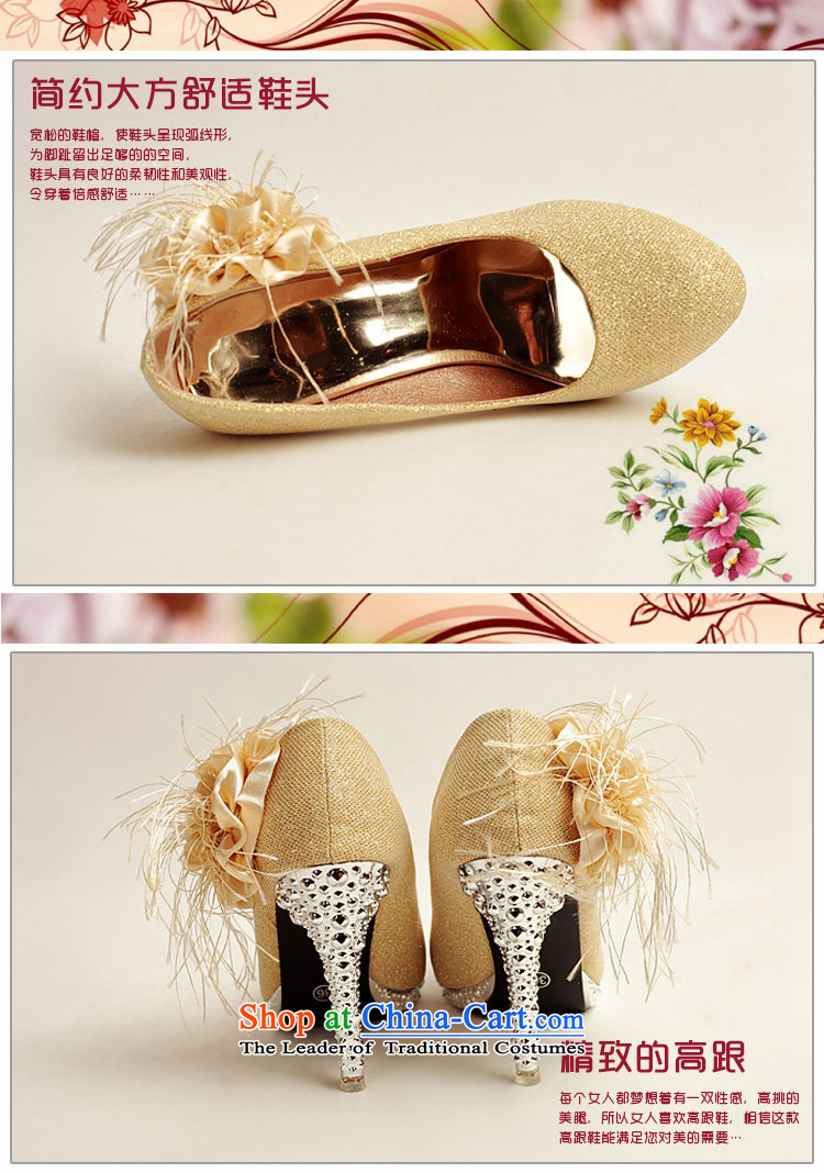 Doi m qi 2014 Women's shoe on the new bride shoes marriage shoes, gold, round head side of the flower of the high-heel shoes XZ10016 Gold Golden 35 pictures, prices, brand platters! The elections are supplied in the national character of distribution, so action, buy now enjoy more preferential! As soon as possible.