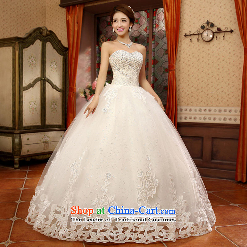 Optimize video new chest irrepressible small drilled saika align to bon bon, wedding dresses XS8063 m White S