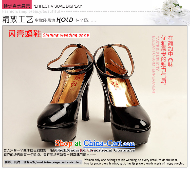 Doi m qi 2014 womens single new varnished leather shoes, smooth sparkling, luxury waterproof shoes marriage bride desktop black shoes, round head high heels black 35 pictures, prices, brand platters! The elections are supplied in the national character of distribution, so action, buy now enjoy more preferential! As soon as possible.