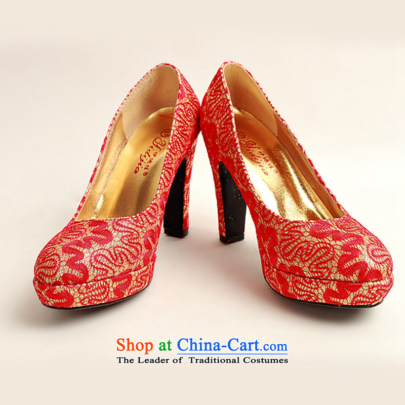 Baby bride new women's 2014 new shoes pattern bride shoes marriage shoes synthetic leather red round head high heels red 37, darling Bride (BABY BPIDEB) , , , shopping on the Internet