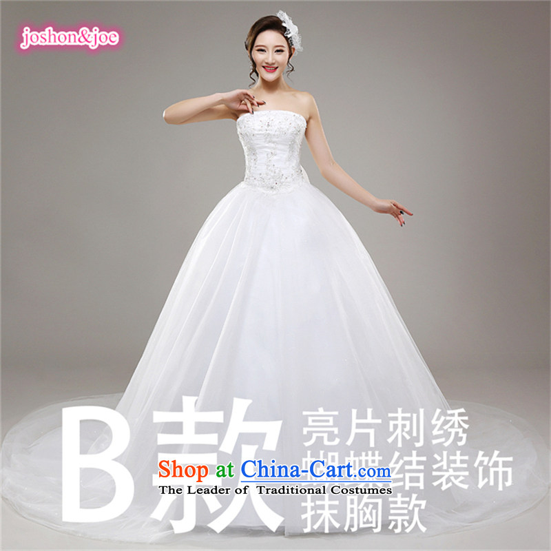 2015 new wedding dresses and lace tabs on the Chest Palace retro tail wedding Princess Korean tail (b XS