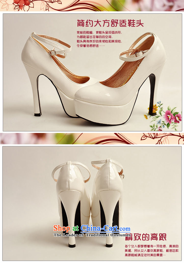 The 2014 womens single new varnished leather shoes, smooth sparkling, luxury waterproof shoes marriage bride desktop white shoes, round head high heels white35 pictures, prices, brand platters! The elections are supplied in the national character of distribution, so action, buy now enjoy more preferential! As soon as possible.
