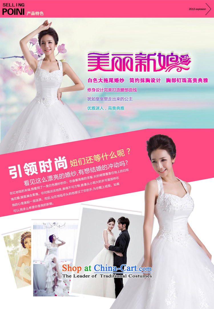 Baby bride tail Wedding 2014 new winter Korean white wall also larger straps wedding bride wedding dress white L picture, prices, brand platters! The elections are supplied in the national character of distribution, so action, buy now enjoy more preferential! As soon as possible.