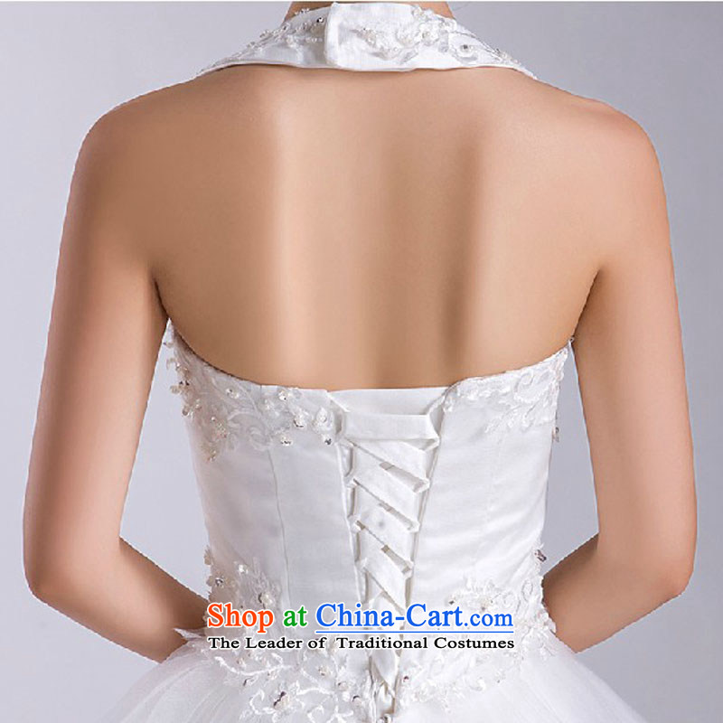 Baby bride tail Wedding 2014 new winter Korean white wall also larger straps wedding bride wedding dress white L, darling Bride (BABY BPIDEB) , , , shopping on the Internet
