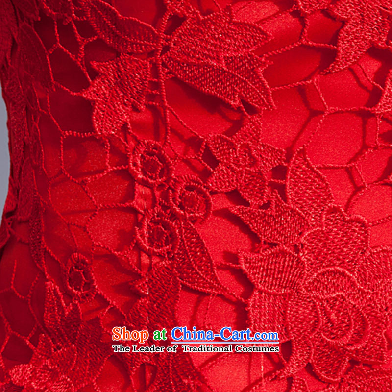 Doi m qi red wedding dresses lace new stylish bride Korean 2014 align to Sau San larger straps retro graphics thin red XXL, Demi Moor Qi , , , shopping on the Internet