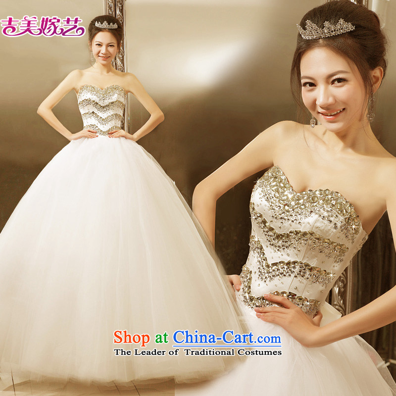 Wedding dress Kyrgyz-american married new anointed arts 2015 Chest Korean skirt to align bon bon HS520 bride wedding to align the ivory?S