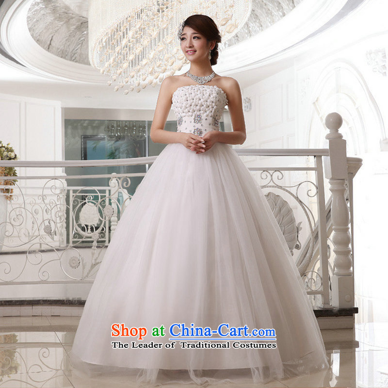 Optimize video spring and summer Korean New anointed Chest Flower to align with the bride wedding dresses XS8183 m White�M