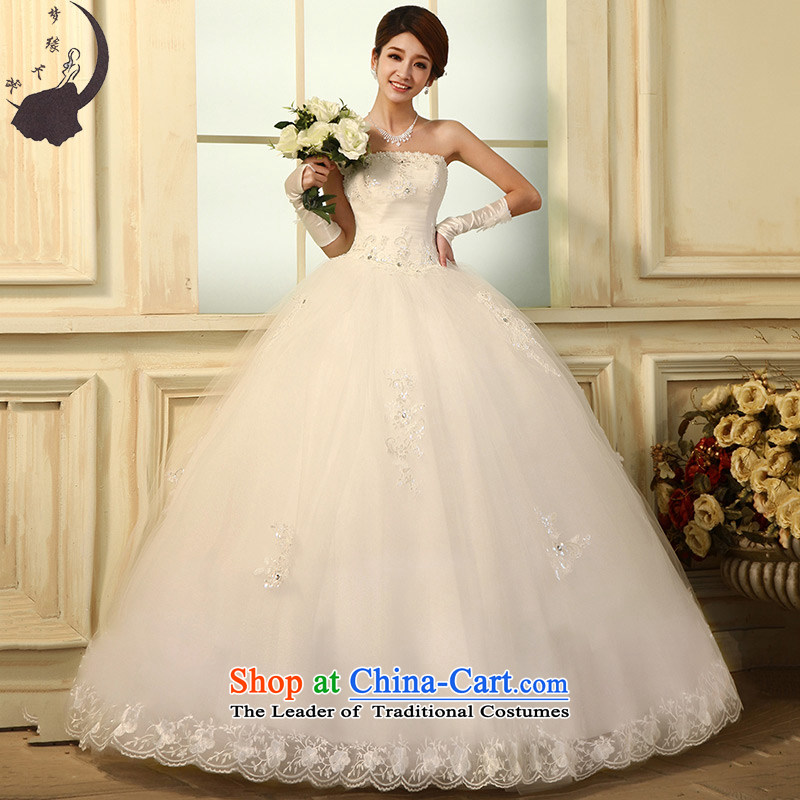 The leading edge of the days of the wedding dresses lace wiping the chest and the Republic of Korea to align the new 2015 tail wedding dress winter 6281 align to M