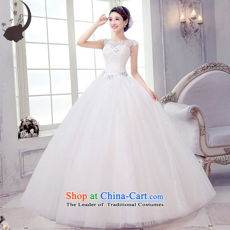 The leading edge of the Wedding March day won a field to align the shoulder white tail lace dress skirt 2015 autumn and winter New Red 6 289 White alignment to s