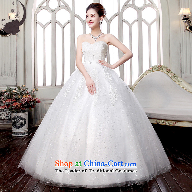 The leading edge of the days of the wedding dresses 2015 new winter pregnant women Top Loin of Mary Magdalene Chest Korean to align the tail wedding dress to align the 1705th ( XL 2.2 feet waist