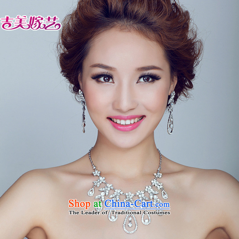 The bride wedding dresses accessories kit Korean TL130 link water drilling jewelry 2015 new marriage necklace white Ear Clip