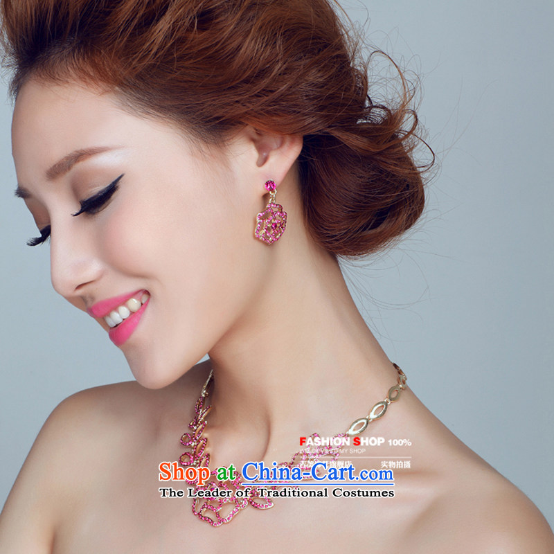 The bride wedding dresses accessories kit Korean TL132 link water drilling jewelry 2015 new marriage by red ear Necklace