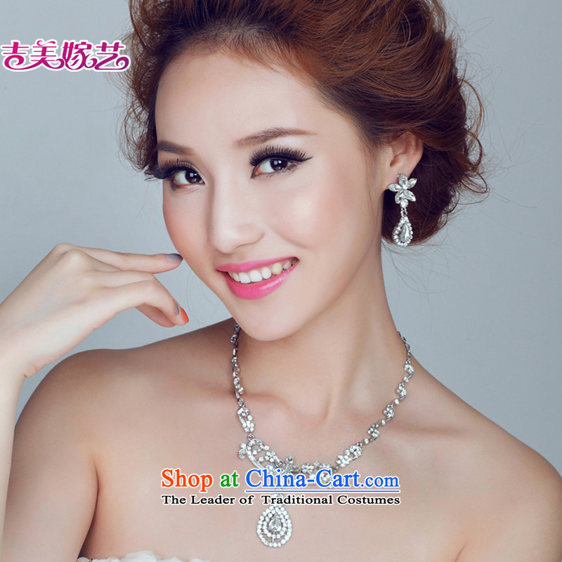 The bride wedding dresses accessories kit Korean TL156 link water drilling jewelry 2015 new marriage necklace gold Ear Clip